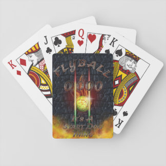 0.000 Flyball Flamz: It's A Start Dog Thing! Playing Cards