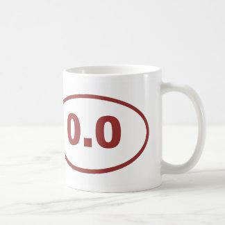 0.0 Maroon Red Coffee Mug