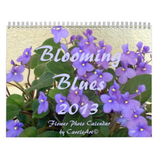 0 2013 Blooming Blues Wall Calendars