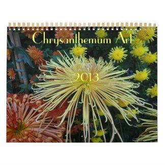0 2013 Chrysanthemum Art Wall Calendar