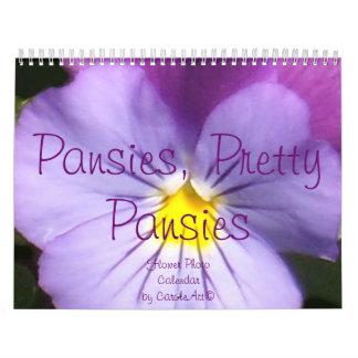 0 2014 Pansies, Pretty Pansies Calendars