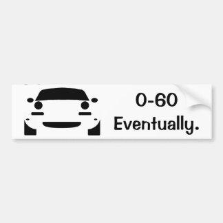 0-60 funny miata bumper sticker