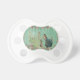 0-6 months BooginHead vintage bunny and a girl Pacifier