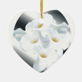 0 Lily of the valley 1.jpg Ceramic Heart Ornament