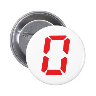 0 red alarm clock number digital zero 2 inch round button