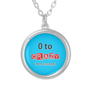 0 TO CRAZY SILVER PLATED NECKLACE