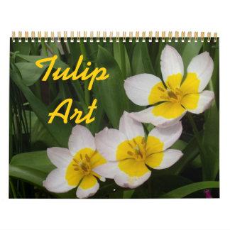 0 Tulip Art Wall Calendars