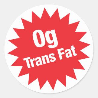 0g Trans Fat Sticker