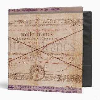 1000 Francs banknote from 8 Floreal, An X Binders