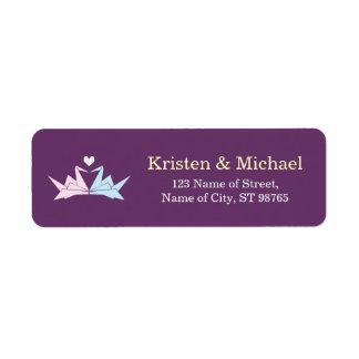 1000 Hanging Origami Paper Cranes Wedding (Purple)