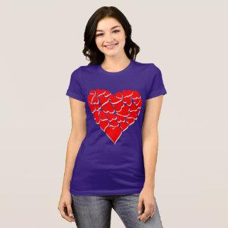 1000 Hearts on Purple Women T-Shirt