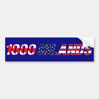 1000 Islands Bumper Sticker