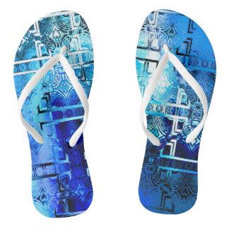 1001 Lights (sapphire blue) Flip Flops
