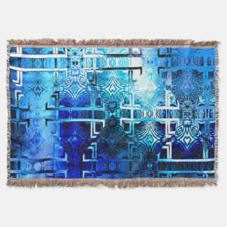 1001 Lights (sapphire blue) Throw Blanket