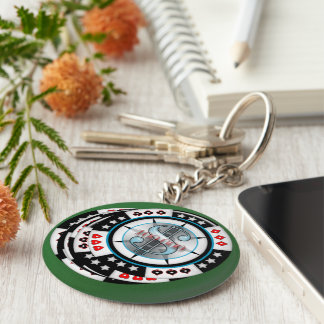 $100,000.00 Gambling Poker Chips Stack Keychain