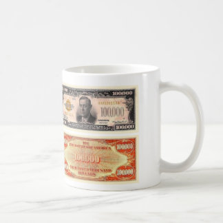 100,000 Dollar Bill Coffee Mug