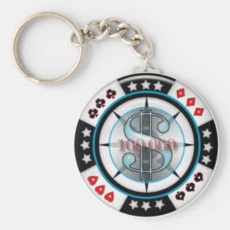 $100,000. Poker Chip Keychain