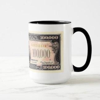 $100,000 U.S. Currency 15 ounce Coffee Mug