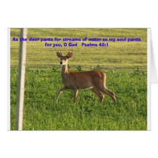 100_3149, As the deer pants for streams of wate... Card