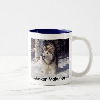 100_5815, Alaskan Malamute Two-Tone Coffee Mug