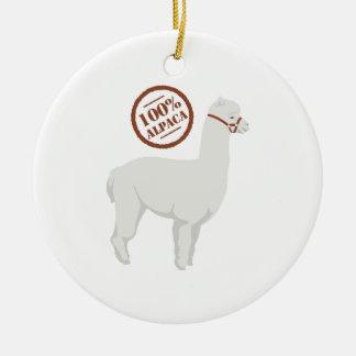 100% Alpaca Ceramic Ornament