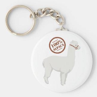 100% Alpaca Keychain