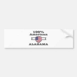 100% American, Alabama Bumper Sticker