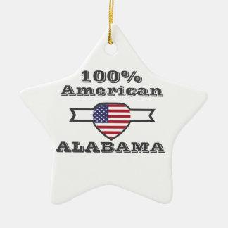 100% American, Alabama Ceramic Star Ornament