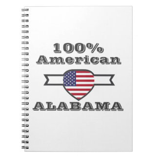 100% American, Alabama Spiral Notebook