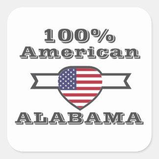 100% American, Alabama Square Sticker