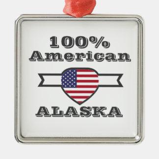 100% American, Alaska Metal Ornament