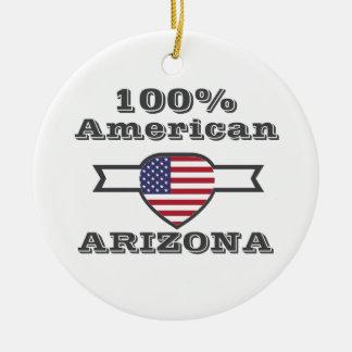 100% American, Arizona Ceramic Ornament