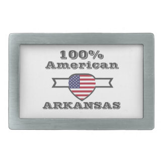 100% American, Arkansas Rectangular Belt Buckle