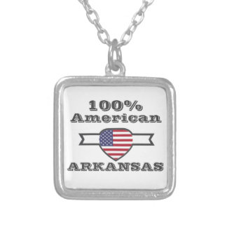 100% American, Arkansas Silver Plated Necklace