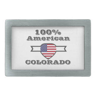 100% American, Colorado Rectangular Belt Buckle