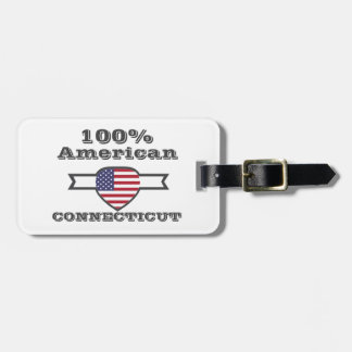 100% American, Connecticut Luggage Tag