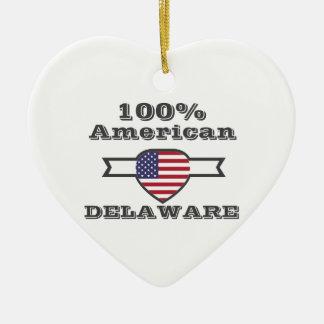 100% American, Delaware Ceramic Ornament