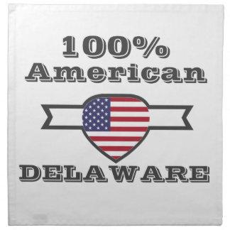 100% American, Delaware Napkin