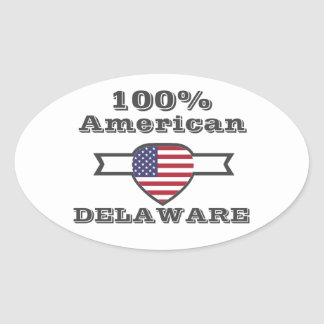 100% American, Delaware Oval Sticker