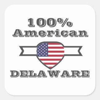 100% American, Delaware Square Sticker