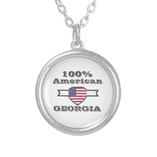 100% American, Georgia Silver Plated Necklace
