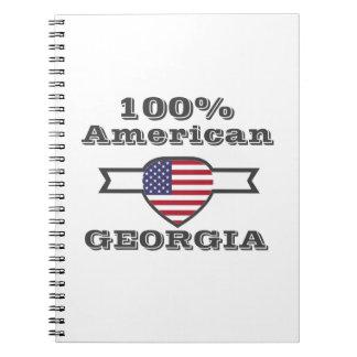 100% American, Georgia Spiral Notebook