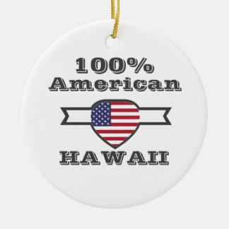 100% American, Hawaii Ceramic Ornament