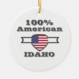 100% American, Idaho Ceramic Ornament