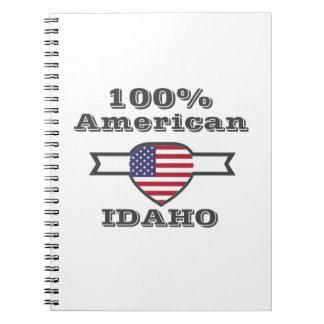 100% American, Idaho Spiral Notebook