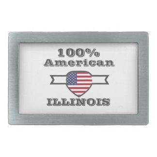 100% American, Illinois Belt Buckle