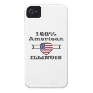 100% American, Illinois iPhone 4 Case