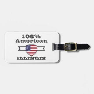 100% American, Illinois Luggage Tag