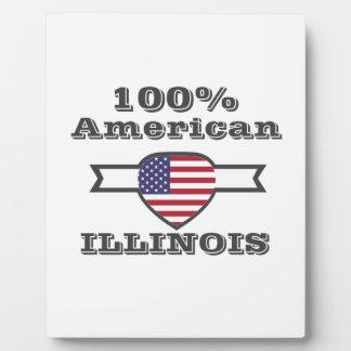 100% American, Illinois Plaque