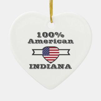 100% American, Indiana Ceramic Ornament